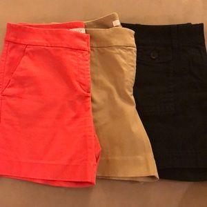 3 pairs of shorts, Ann Taylor Loft. Sz 4